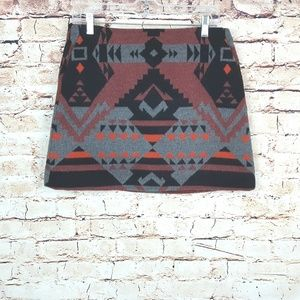 GAP Skirts - GAP|NWT Wool Blend Southwestern Mini Skirt SZ 4
